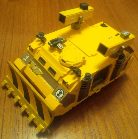 Imperial Fists Space Marine Rhino with two Hunter-Killer Missiles