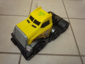 """Toy truck which the circuity was removed-from for Chimera """"Mako"""""""