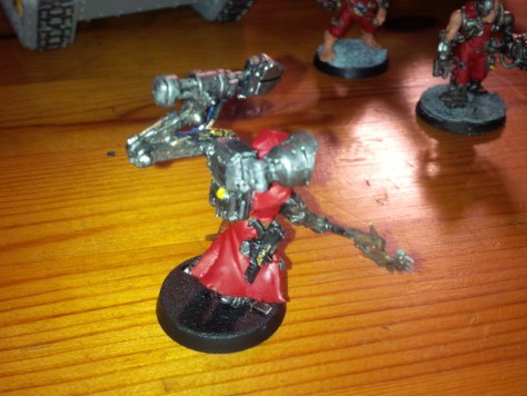 Chaos Cultists converted to Techpriest Engiseer (side)