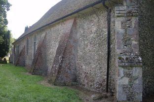 The presumed original north wall.
