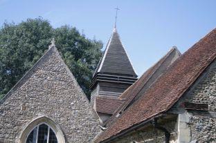 A wooden belfry.