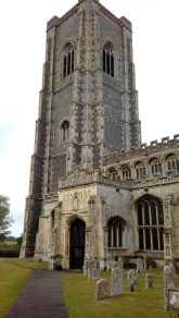 Notice the straight parapets, without the adornment of battlements, on this 114 ft. tower.