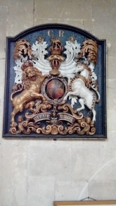 One of the royal seals on display.