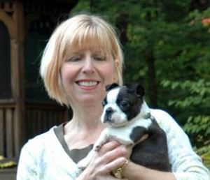 Christi and Boston puppy