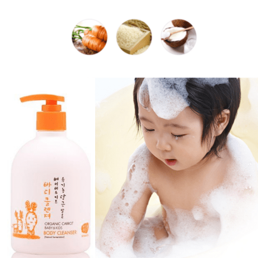 Whamisa Carrot Baby & Kids Body Cleanser