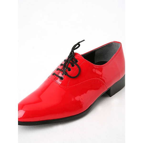 Mens Glitter Red Lace Up Oxfords Dress Shoes