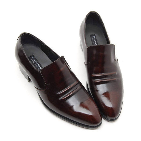 Mens real Leather inner band Loafers slip on dress shoes