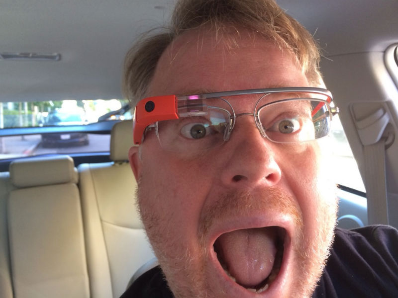Robert Scoble looks approachable with his Google Glass