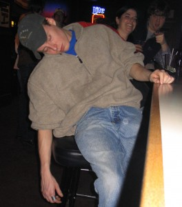 A tad too much to drink? Photo by Doug Bowman
