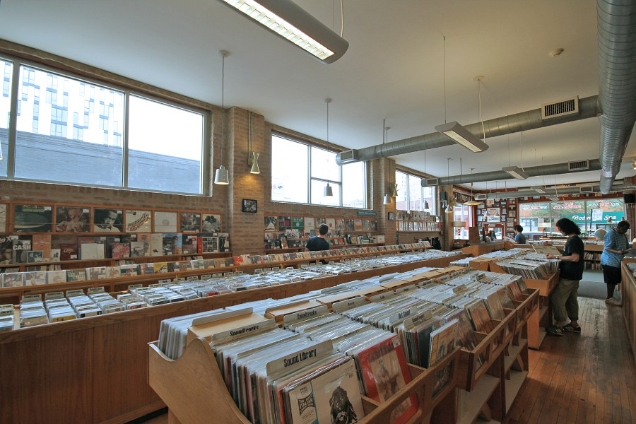 Even though Dusty Groove's main business is online, they open their doors every day to the public. They specialize in genres such as vintage jazz, funk, soul, hip-hop, world, and Brazil. The best section in the store is the Bargain Basement where you can buy most of the items for a mere 25 or 50 cents.