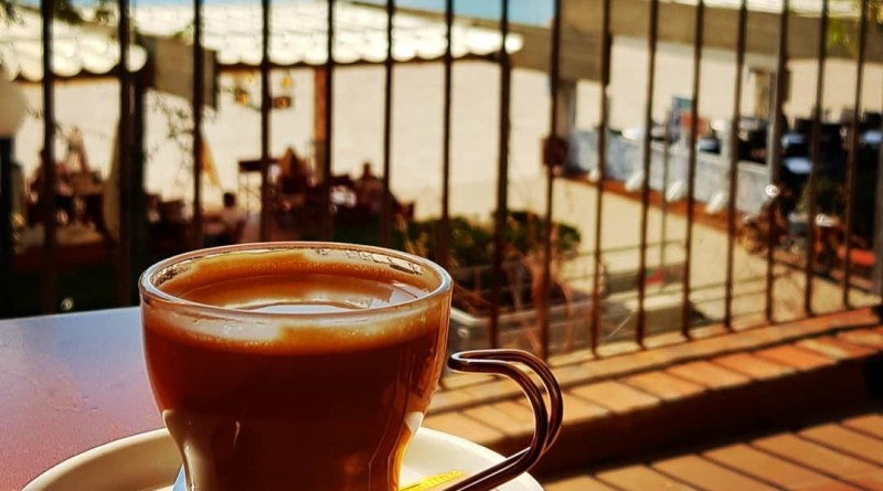 Casa Oliveras cafe in Blanes roof terrace view!