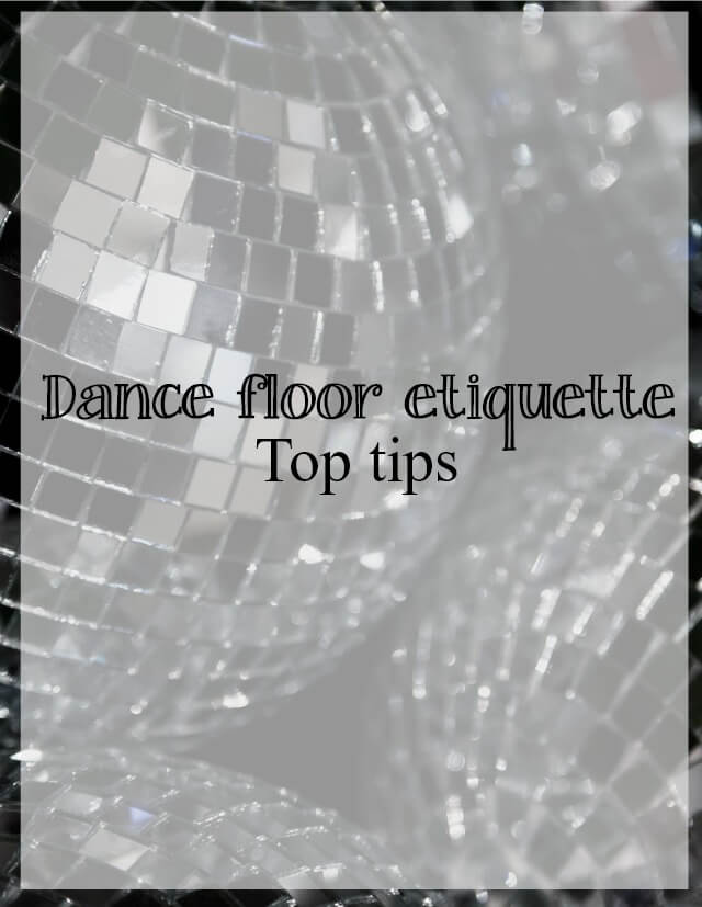 dance floor etiquette - What about dance