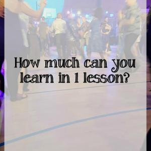 How much can you really learn in one modern jive class