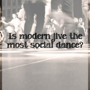 What makes modern jive such a social dance?