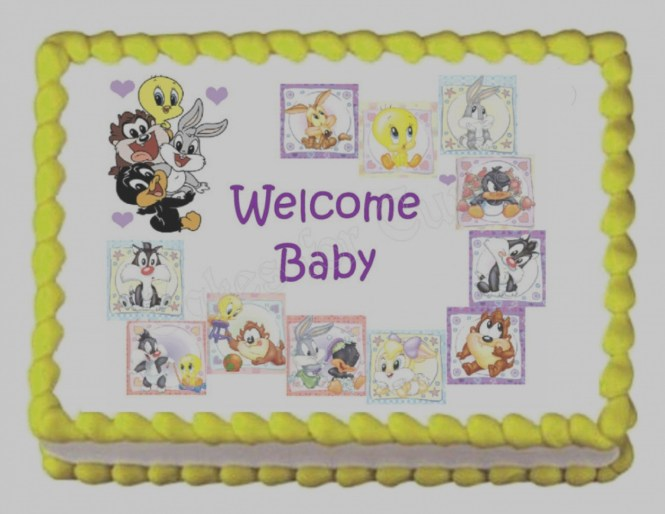 Modern Images Of Baby Looney Tunes Shower Invitations