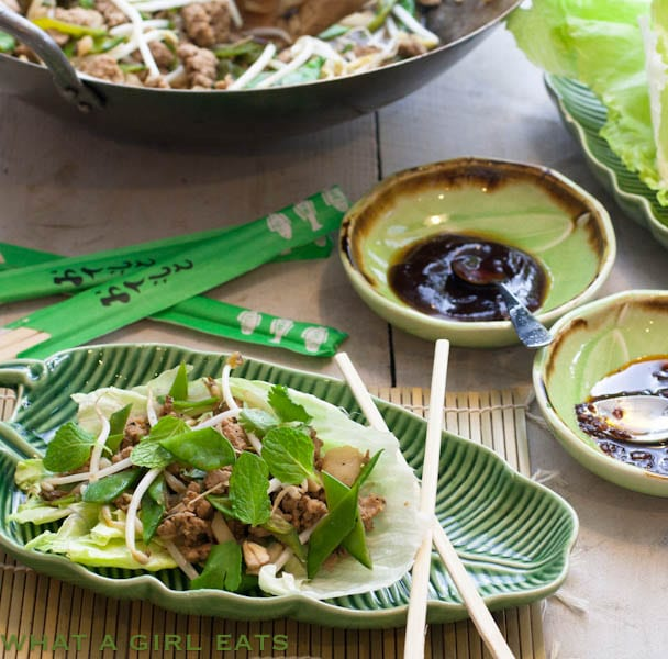 Top 10 Healthiest Dishes Of 2016. Chinese lettuce wraps are a quick, easy, and healthy weeknight dinner. Ground turkey is stir fried with fresh Asian vegetables and served in lettuce leaves with sweet hoison sauce.