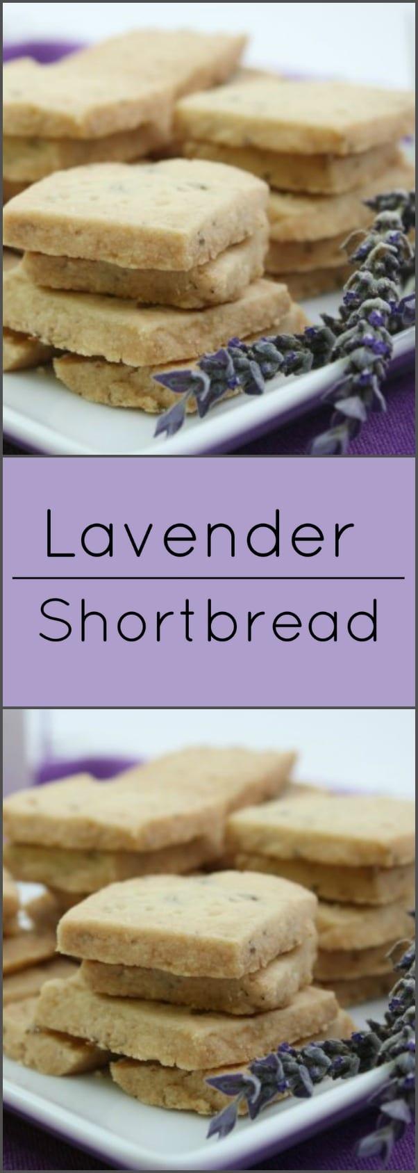 Lavender shortbread has delicate floral overtones.