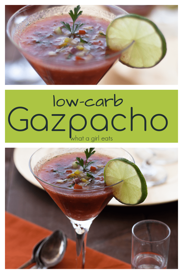 This chilled gazpacho is light and healthy with garden tomatoes, crisp cucumbers and jalapenos it's the perfect summertime soup.