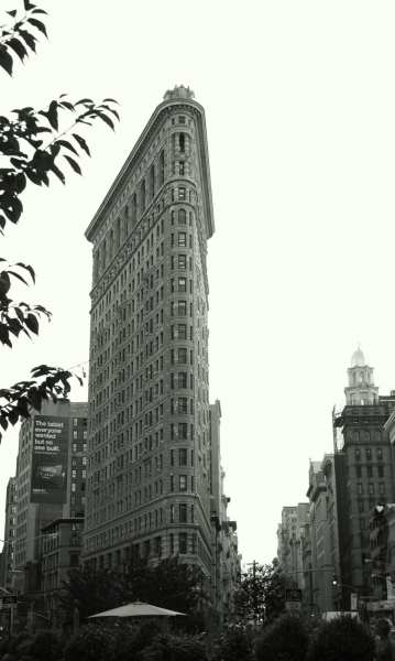 The Flat Iron Building, New York City.