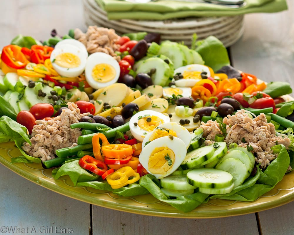 nicoise salad, a classic composed salad - what a girl eats