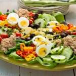 Nicoise Salad or composed salad.