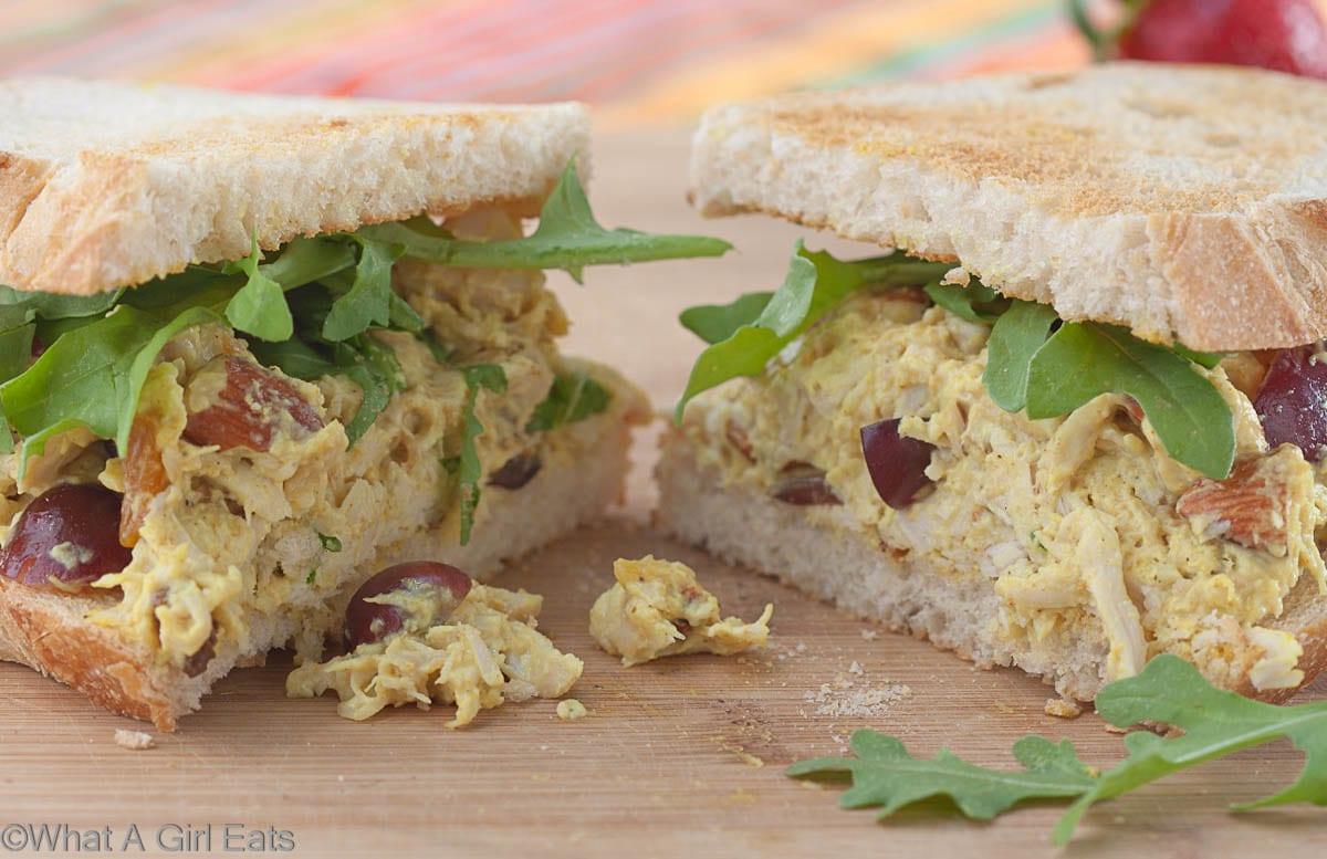Coronation Chicken Salad Sandwich | whatagirleats.com