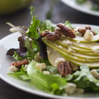 Pear and Gorgonzola Salad with Candied Pecans