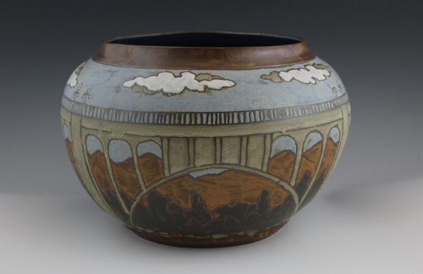 Colorado Street Bridge vase, by Sarah Moore