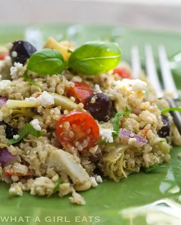 Top 10 Healthiest Dishes Of 2016. Artichoke and Pesto Mediterranean Quinoa Salad