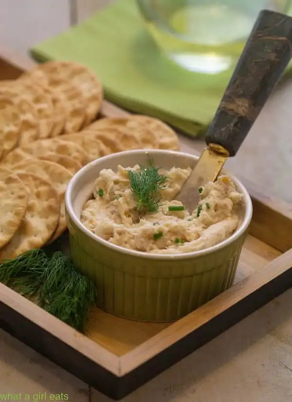 Smoked trout mousse is a classic British appetizer recipe that is incredibly easy to make. Due to its versatility, it can be served several ways. | WhatAGirlEats.om