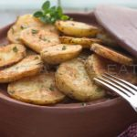 Learn how to make the Crispiest Roasted Potatoes Ever!   WhatAGirlEats.com