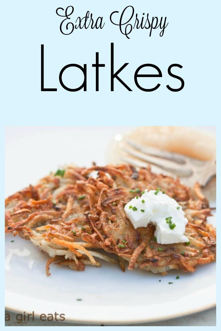 extra crispy potato latkes!