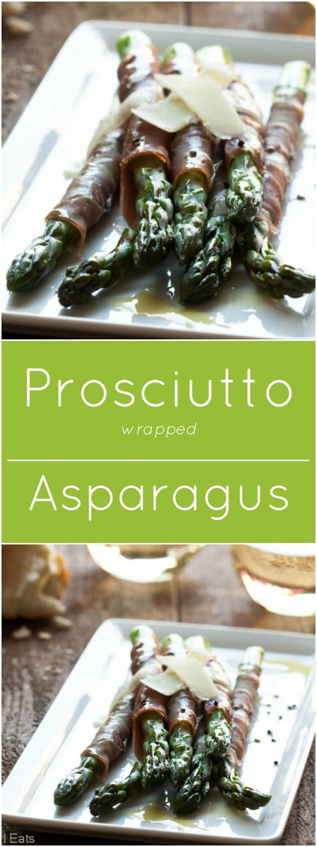 Prosciutto wrapped Asparagus. Gluten free, low carb and paleo.