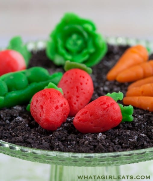 Marzipan vegetables.