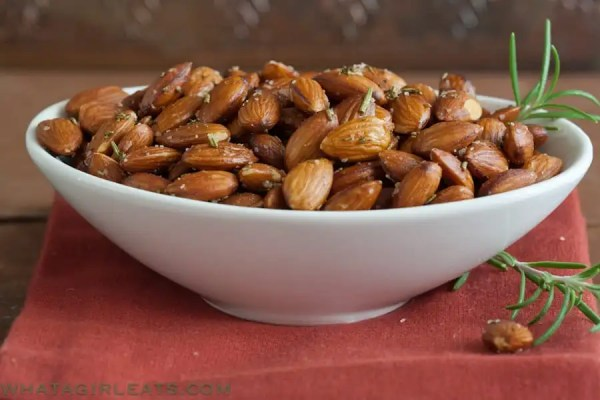 Keep these easy Rosemary Roasted Almonds on hand for a quick addition to a tapas platter.