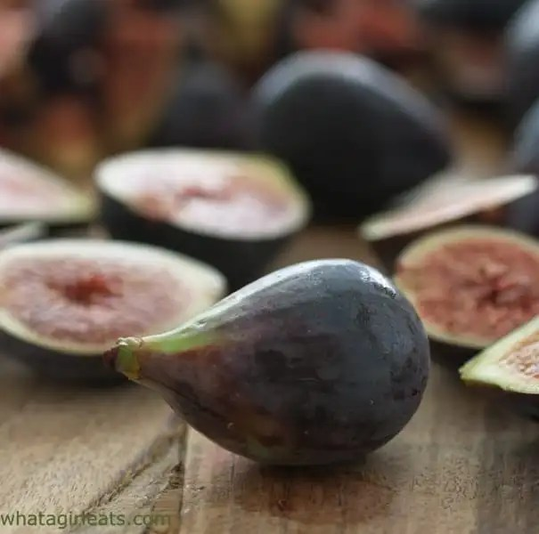 Mission figs grain free fig and walnut tart.