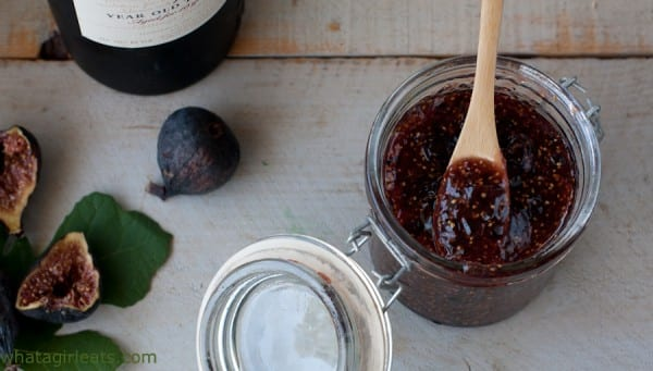 Ruby port fig jam is a delicious, savory condiment. It's wonderful spread on toast or scones. Best of all, it's a freezer jam recipe - no canning involved!