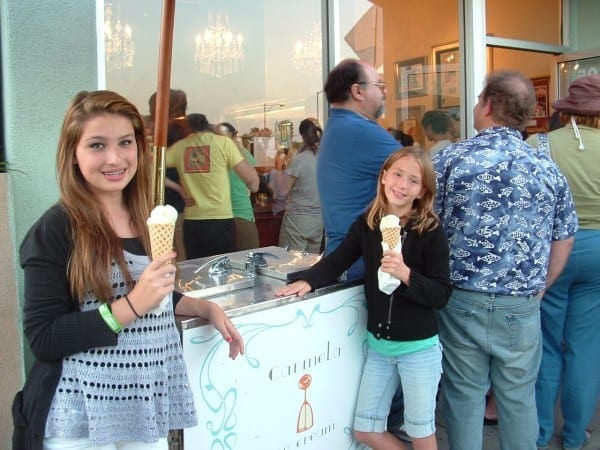 """This was taken in 2011, when Carmela's had just opened, it was my then 10 year old daughter, Sophie, (right) who told me that I """"HAD to try Carmela""""."""