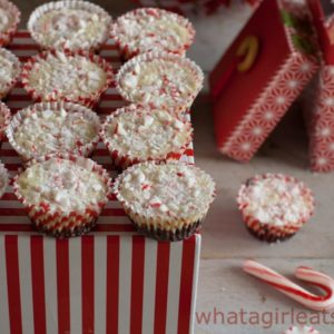 Copycat Peppermint Bark Cups - Get the recipe from What a Girl Eats