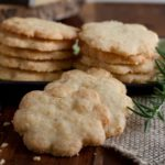 Savory Rosemary Cheddar Shortbread - Recipe from What a Girl Eats