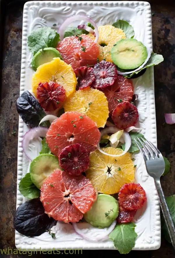 Top 10 Healthiest Dishes Of 2016. Citrus Salad with Orange Dijon Vinaigrette