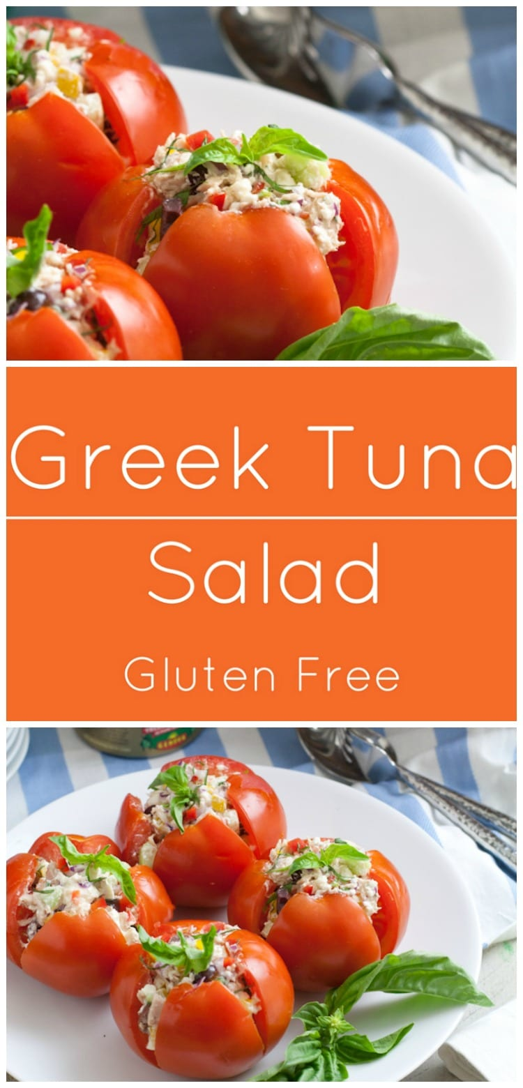 Greek Tuna Salad...all the flavors of the Greek islands, cucumbers, olives, and basil.