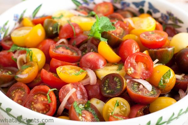 Tomato Balsamic Mint Salad