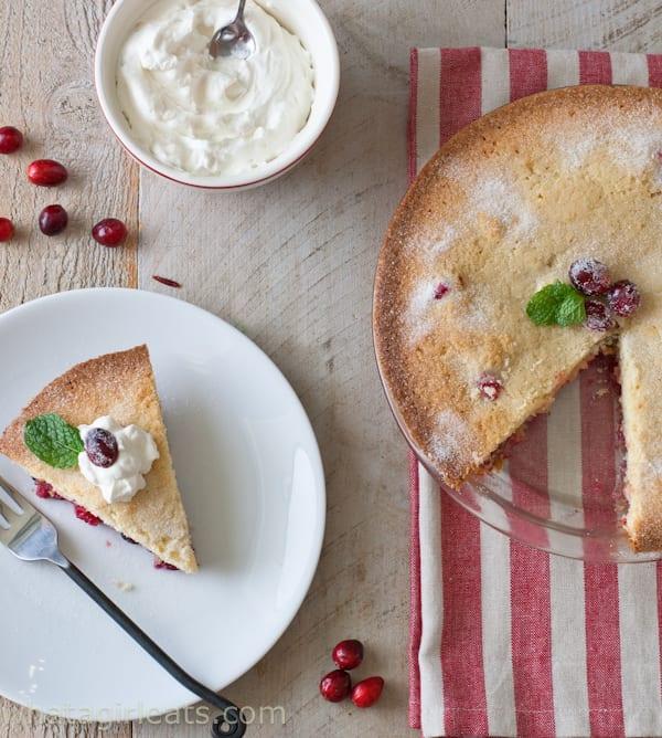 Nantucket Cranberry Pie Recipe | @whatagirleats
