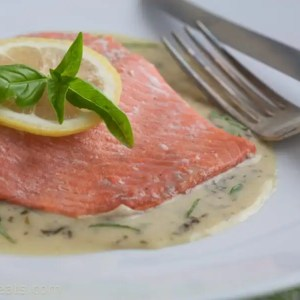 Salmon In Basil Cream Sauce