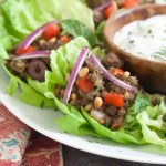Whole30 Middle Eastern Lettuce Wraps.