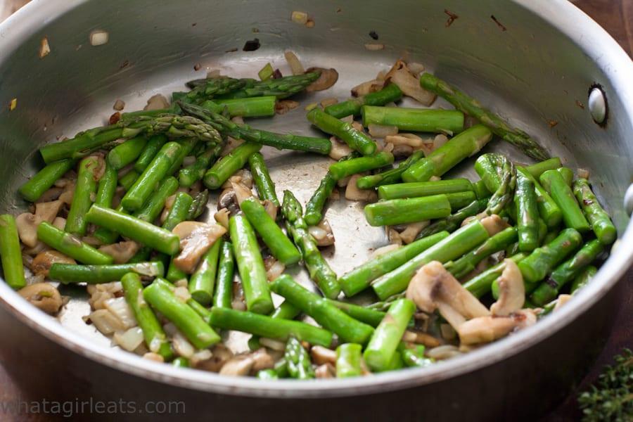sauteed asparagus and mushrooms