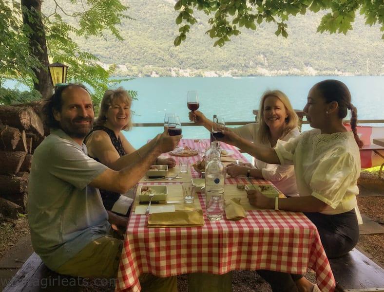 Grotto Descano dining area
