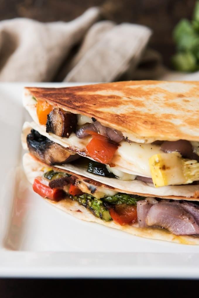 grilled vegetable quesadilla