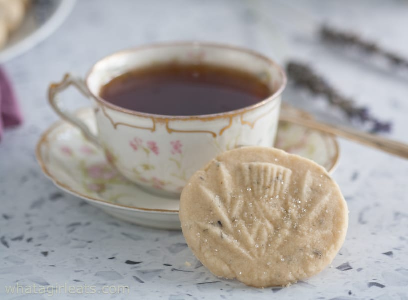 shortbread in thistle mold